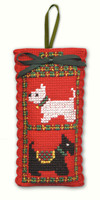 Scotties & Westies Sachet Cross Stitch Kit by Textile Heritage