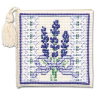 Victorian Lavender Needle Case Cross Stitch Kit by Textile Heritage