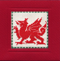 Welsh Dragon Miniature Card Cross Stitch Kit by Textile Heritage