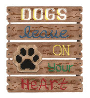 Dogs Leave Paw Prints Plastic Canvas Kit