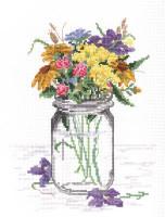 Wildflower Jar Cross Stitch Kit by Janlynn