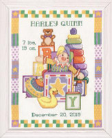 Toys Birth Sampler Cross Stitch Kit by Design Works