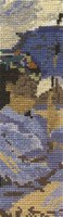 Monet - The Beach at Trouville Bookmark Cross Stitch Kit By DMC