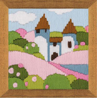 Pink Garden Long Stitch Kit by Riolis
