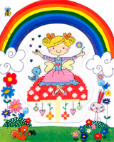 Fairy Kids cross Stitch Kit By Bothy Threads