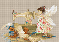 Fairy Needlewoman Cross Stitch Kit by Luca-S