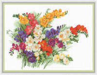 Freesias Cross Stitch Kit by Riolis