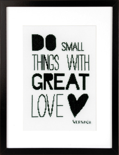 Do Small Things  cross Stitch Kit By Vervaco