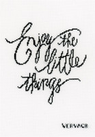 Enjoy The Little Things  cross Stitch Kit By Vervaco