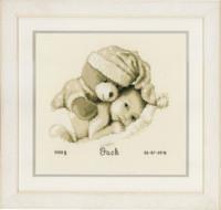 Baby & Teddy  Cross Stitch Kit By Vervaco