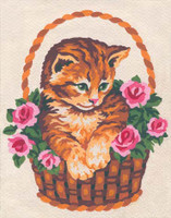 cat in a Basket Canvas only By Grafitec