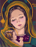 Madonna & Child II  Canvas only By Grafitec