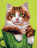 Kitten in a Cup Canvas only By Grafitec