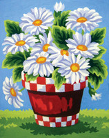 White Daisies Canvas only By Grafitec