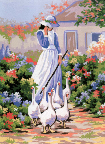 Goose Girl Canvas only By Grafitec