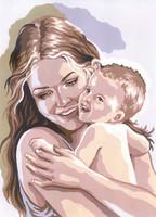 Motherhood Canvas only By Grafitec