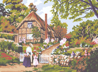 Cottage Gate Canvas only By Grafitec