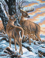 Stag and Doe Canvas only By Grafitec