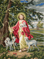 The Lord is our Shepherd Canvas only By Grafitec