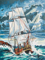 Stormy Seas Canvas only By Grafitec