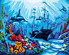 Underwater World Canvas only By Grafitec
