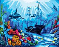 Underwater World Canvas only By Grafitec