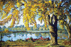 Autumn by the Lake Canvas only By Grafitec