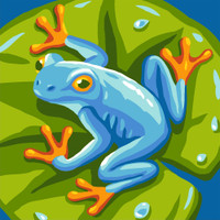 Blue Frog Canvas only By Grafitec