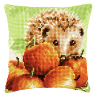Hedgehog with Apples  Cross Stitch Kit By Vervaco