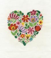 Bouquet of Love Cross Stitch Kit By DMC