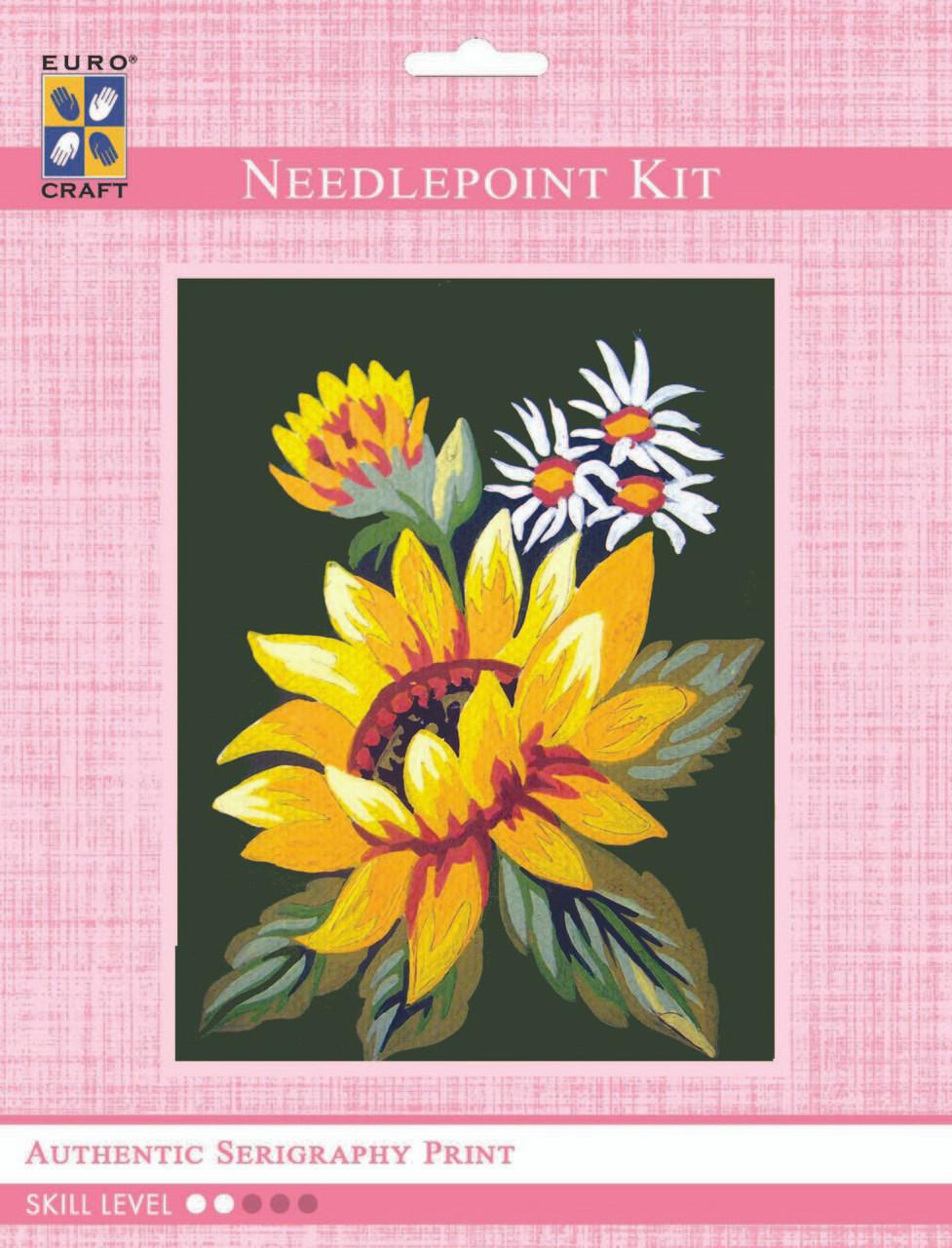 Grafitec Printed Tapestry//Needlepoint Canvas Yellow /& White Daisies