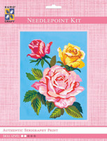 Pink & Yellow Roses  Tapestry Kit By Grafitec
