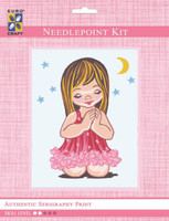 Angel Girl Moon & Stars  Tapestry Kit By Grafitec