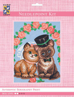 Wedding Cats  Tapestry Kit By Grafitec
