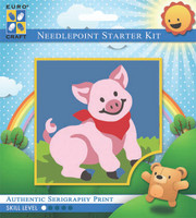 Grinning Pig  Tapestry Kit By Grafitec