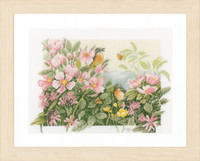 Birds & Roses Cross Stitch Kit By Lanarte