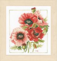 Anemone Bouquet  Cross Stitch Kit By Lanarte