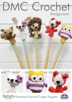 Woodland Animal Finger Puppets Crochet Pattern Leaflet  By DMC