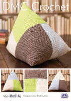 Triangular Colour Block Cushion  Crochet Pattern by DMC
