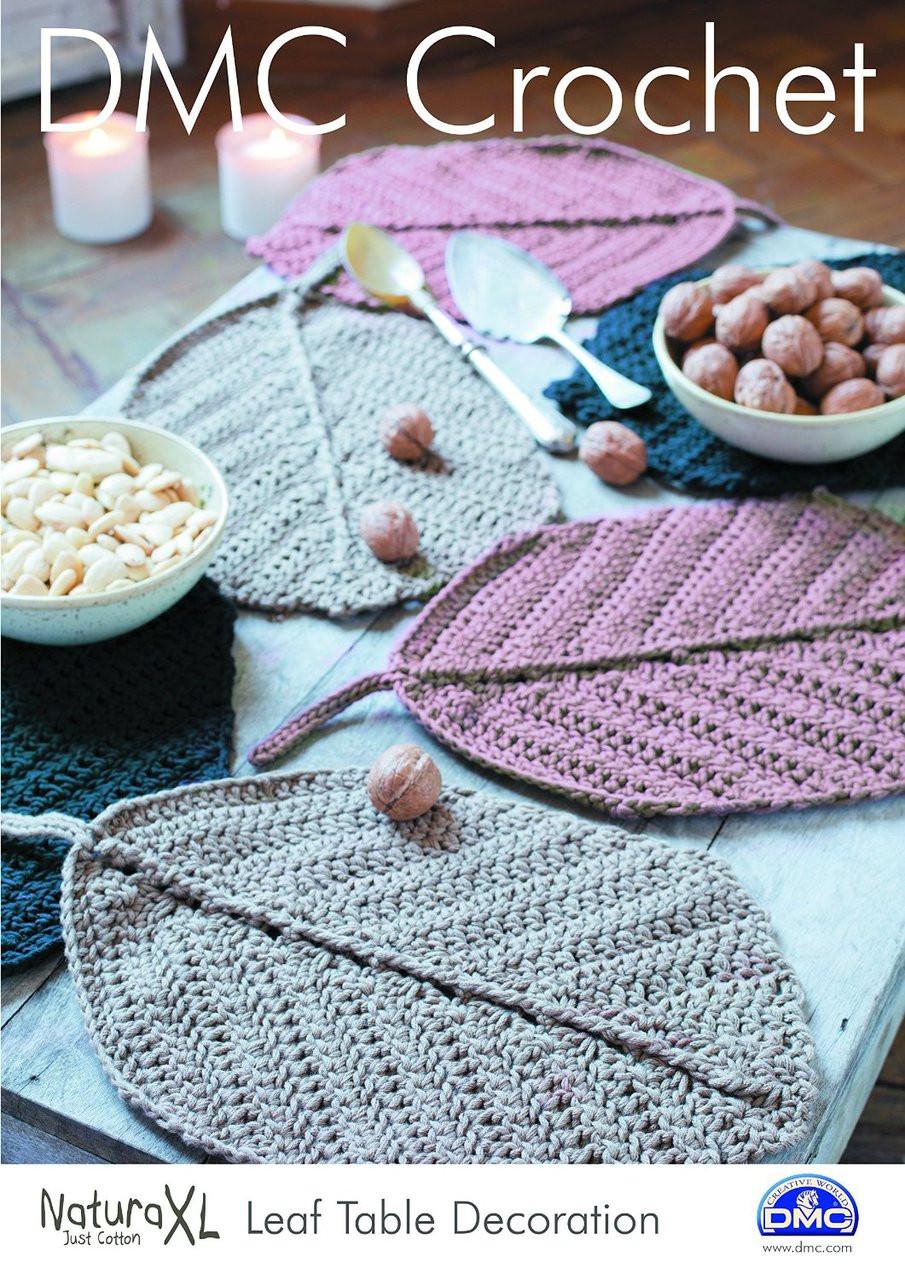 Leaf Table Decoration Crochet Pattern By Dmc Mariescrossstitch
