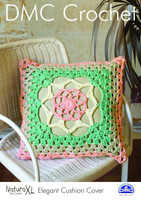Elegant Cushion Cover Crochet Pattern by DMC