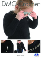 Biker Jacket  Crochet Pattern By DMC