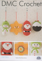 Festive Tree Decorations Crochet Pattern By DMC