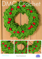 Festive Holly Garland Crochet Pattern By DMC