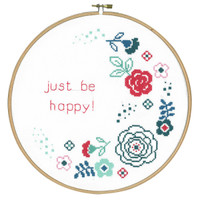 Modern Flowers  Cross Stitch Kit By Vervaco