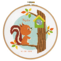 Squirrel in Tree  Cross Stitch Kit By Vervaco