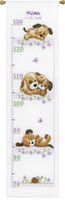 Playing Dogs Height Chart Cross Stitch Kit By Vervaco