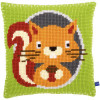 Squirrel Chunky Cushion Cross Stitch Kit By Vervaco