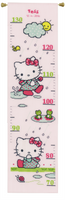 Hello Kitty: Rainy days  Height Chart Counted Cross Stitch