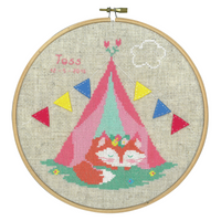 Lief! Small Fox in Tent Counted Cross Stitch Kit By Vervaco